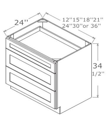 3 Drawer Bases