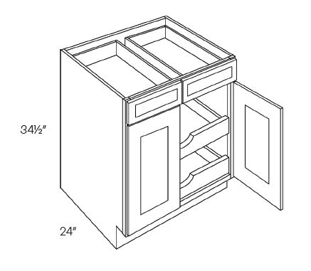 Double Drawer & Door Base Cabinets 2 POS