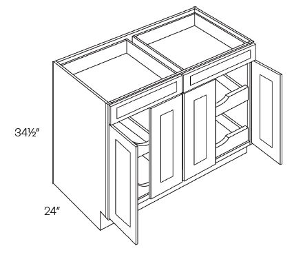 Double Drawer & 4 Door Base Cabinets 4 POS