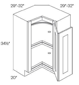 Lazy Susan Corner Base Cabinets