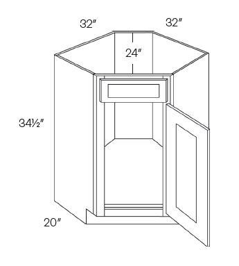 Diagonal Corner Sink Base Cabinets