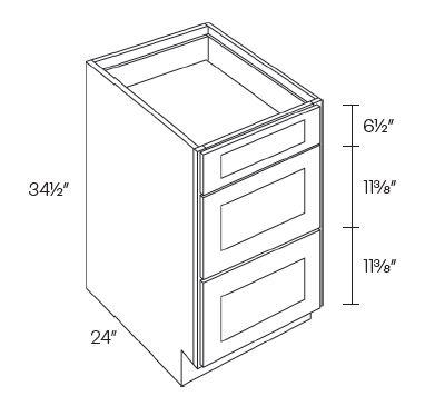 3 Drawer Base Cabinets