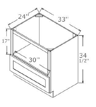 Microwave Base Cabinet