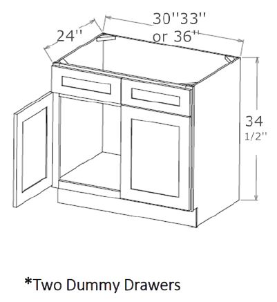 Sink Base-Two Dummy Drawers
